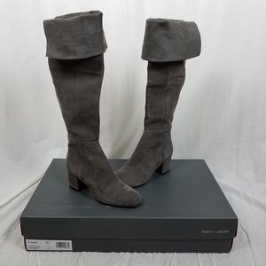Vince Camuto Tall Leather Fold Over Riding Boots